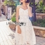 Lady Ribbon Online เสื้อผ้าออนไลน์ขายส่ง Lady Ribbon เสื้อผ้า LR07180816 &#x1F380 Lady Ribbon's Made &#x1F380 Lady Olivia Pure and Classic Strappy White Lace Dress thumbnail 3
