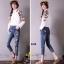 กางเกงยีนส์แฟชั่นฮ่องกงเกาหลี thumbnail 2