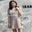 Lace with Lady Ribbon Nude Lining Mini Dress thumbnail 1