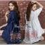 Lady Ribbon Online ขายส่งเสื้อผ้าออนไลน์ Very very pretty VP06030816 Smart Chic Embroidery Cotton shirt Dress thumbnail 1