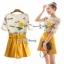 เสื้อผ้าปักผ้าลูกไม้สีเหลือง thumbnail 1