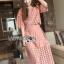 Lady Ribbon Online เสื้อผ้าออนไลน์ ขายส่งของแท้ราคาถููก LR12110716 &#x1F380 Lady Ribbon's Made &#x1F380 Lady Charlotte Pinky Feminine Hearty Embroidered Set thumbnail 3