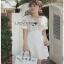 White Lace and Crepe Mini Dress Lady Ribbon มินิเดรส thumbnail 1