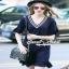Seoul Secret Colar Navy Knit Dress thumbnail 1
