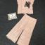 ผ้าลูกไม้ทอลายเสื้อทรงปล่อยแขนสั้น thumbnail 4