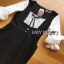 Lady Ribbon Black & White Polkadot Dress thumbnail 6