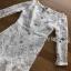 Lady Ribbon Peplum Lace Dress เดรสผ้าลูกไม้สีขาวสไตล์วินเทจ thumbnail 5
