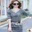 Seoul Secret Diamond Denim Dress งานสวยเก๋ด้วยเนื้อผ้ายีนส์ฟอกสีดำ thumbnail 3