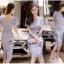 Lady Ribbon Online เสื้อผ้าแฟชั่นออนไลน์ขายส่ง เลดี้ริบบอนของแท้พร้อมส่ง Veryverypreppy เสื้อผ้า VP02240716 Luxury Classic Vintage Lace Long Dress thumbnail 1