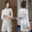 Lady Ribbon Portrait Mini Dress thumbnail 1