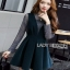 Lady Ribbon Danielle Green Pleated Set Dress thumbnail 4