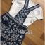 Lady Ribbon Set ขายเซ็ตเสื้อยืดสีขาวพร้อมเอี๊ยมกระโปรง thumbnail 8