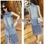 Laser-Cut Denim Shirt Dress เชิ้ตเดรสผ้าเดนิมปักและฉลุลาย thumbnail 4