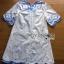 Lady Ribbon Online ขายส่งเสื้อผ้าออนไลน์ ขายส่งของแท้พร้อมส่ง Lady Ribbon LR12250716 &#x1F380 Lady Ribbon's Made &#x1F380 Lady Rachel Summery Classic Blue and White Embroidered Dress thumbnail 5