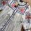 Lady Ribbon Online ขายส่งเสื้อผ้าออนไลน์เลดี้ริบบอน LR08010816 &#x1F380 Lady Ribbon's Made &#x1F380 Lady Alexandria Country Feminine Flower Embroidered Button-Down Cotton Dress thumbnail 5
