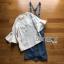 Lady Ribbon Denim Overall Dress thumbnail 9
