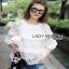 Lady ribbon Mina Layered Pleat and Lace Jumper thumbnail 4