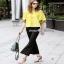 เสื้อปักสีเหลืองผ้าคอตตอนผ้าหนา thumbnail 4