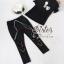ST18310716 &#x1F340สินค้าพร้อมส่ง&#x1F340 한국에 의해 설계된 2sister made , Lovely White & Black Lady Set With Gimmic Fancy thumbnail 5