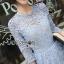 Lady Ribbon Lace Dress in Light Blue thumbnail 6