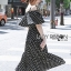 Lady Ribbon Cotton Dress เดรสผ้าคอตตอนลายจุดสีขาว-ดำ thumbnail 5