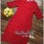 Lady Ribbon Online เสื้อผ้าแฟชั่นออนไลน์ขายส่ง เลดี้ริบบอนของแท้พร้อมส่ง Veryverypreppy เสื้อผ้า VP03240716 Luxurious Classic Floral Lace Dress thumbnail 5