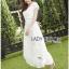 Lady Ribbon Online ขายส่งเสื้อผ้าออนไลน์ เลดี้ริบบอน LR07280716 &#x1F380 Lady Ribbon's Made &#x1F380 Lady Hana Classic Feminine Lace Maxi Dress in White thumbnail 2