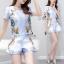Lady Ribbon ออนไลน์ เสื้อผ้าออนไลน์ พร้อมส่งของแท้ SV07130716 &#x1F389Sevy Two Pieces Of Nail Design Blouse with Shorts Sets thumbnail 4