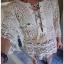 Summer Style White Crochet Dress Lady Ribbon เดรสผ้าถักโครเชต์ thumbnail 4