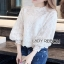 Lady Ribbon Feminine White Lace Blouse thumbnail 2