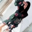 2Sister Made, Emerald Green Cuties Dress เดรสสั้น ผ้าchiffonพริ้วบางเบาพิมพ์ลายดอกสวยทั้งตัว thumbnail 3