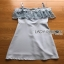 Lady Ribbon Baby Blue Lace and Crepe Mini Dress thumbnail 7