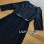 Lady Ribbon Crepe Dress with Black Patent Belt thumbnail 5