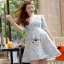 Lady Ribbon Rena Flower Blooming Pastel Lace Mini Dress thumbnail 2