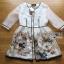 Lady Ribbon Online เสื้อผ้าออนไลน์ขายส่ง Lady Ribbon เสื้อผ้า LR09180816 &#x1F380 Lady Ribbon's Made &#x1F380 Lady Leanne Sweet Feminine Fairy Tale Embroidered Organza Dress เดรสผ้าแก้ว thumbnail 5