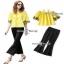 เสื้อปักสีเหลืองผ้าคอตตอนผ้าหนา thumbnail 2