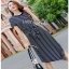 Lady Ribbon Cathy Tie-Knot Dress เดรสผ้ายืดลายทาง thumbnail 4