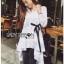 Lady Ribbon Online เสื้อผ้าออนไลน์ขายส่ง Lady Ribbon เสื้อผ้า LR12180816 &#x1F380 Lady Ribbon's Made &#x1F380 Lady Lauretta Minimal Chic Poplin Cotton Long Shirt with Ribbon เชิ้ตยาวผ้า thumbnail 7