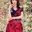 Lady Ribbon Online เสื้อผ้าออนไลน์ขายส่ง lady ribbon เสื้อผ้า LR16150816 Red Roses Embroidered Mini Dress มินิเดรสปักลายดอกกุหลาบสีแดง thumbnail 4