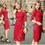 Lady Ribbon Online เสื้อผ้าแฟชั่นออนไลน์ขายส่ง เลดี้ริบบอนของแท้พร้อมส่ง Veryverypreppy เสื้อผ้า VP03240716 Luxurious Classic Floral Lace Dress thumbnail 1