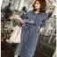 Sara Denim Shirt Lady Ribbon Dress เชิ้ตเดรส thumbnail 4