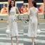Lady Ribbon Lace Jumpsuit จัมป์สูทสีขาว thumbnail 2