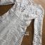 White Lace Dress Lady Ribbon ขายเดรสผ้าลูกไม้ thumbnail 6