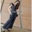 Lady Ribbon Denim Jumpsuit จัมป์สูทสีดำ thumbnail 2