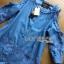 Lady Ribbon Online เสื้อผ้าออนไลน์ขายส่ง lady ribbon เสื้อผ้า LR05150816 &#x1F380 Lady Ribbon's Made &#x1F380 Ashley Summery Off-Shoulder Denim Cotton and Lace Dress เดรสเปิดไหล่ thumbnail 5