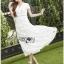 Lady Ribbon Online ขายส่งเสื้อผ้าออนไลน์ เลดี้ริบบอน LR07280716 &#x1F380 Lady Ribbon's Made &#x1F380 Lady Hana Classic Feminine Lace Maxi Dress in White thumbnail 3