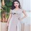 Cut-Out Dress Lady Ribbon ขายเดรสสีเทา thumbnail 4