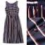 Lady Ribbon Online เสื้อผ้าออนไลน์ ขายส่ง normal ของแท้ NA12140716 &#x1F389Normal Ally Present new summer collection striped silk dres thumbnail 5