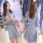 Lady Ribbon Lace Dress in Light Blue thumbnail 2