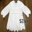 เสื้อคอวีผ้าลูกไม้แฟชั่น Cotton thumbnail 5